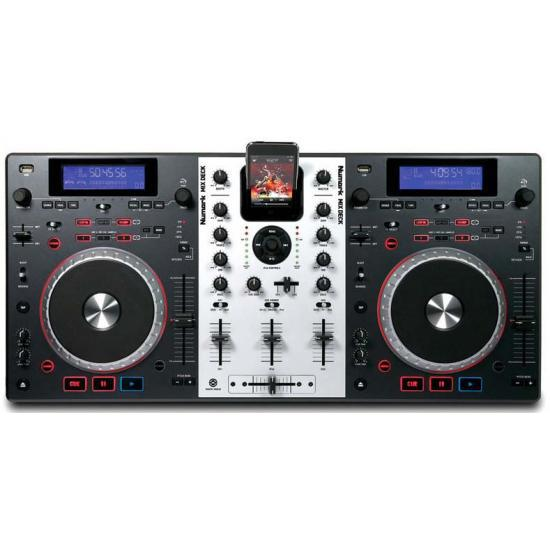 MEZCLADOR 3 CANALES IPOD CON DOBLE LECTOR CD MP3 & USB NUMARK MIXDECK