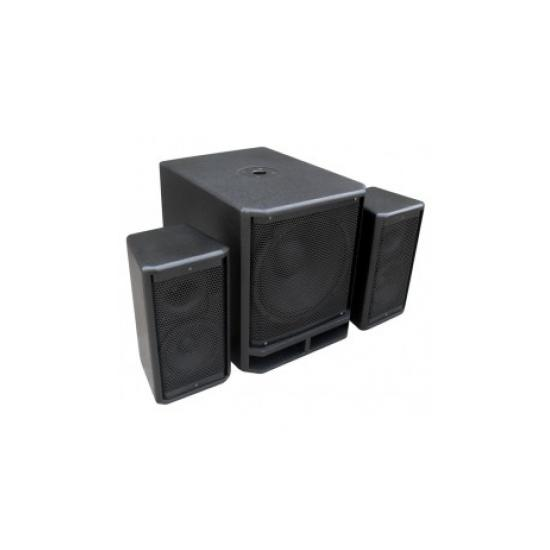 "178.927 Subwoofer 18"" +2x Satelites 10"" Power Dynamics Combo 1800"