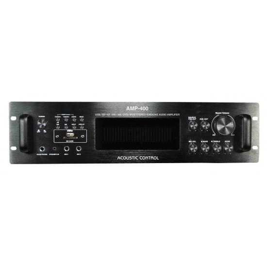 Amplificador HI-FI estéreo con reproductor MP3,  Bluetooth y radio AM/FM Acoustic Control AMP 400