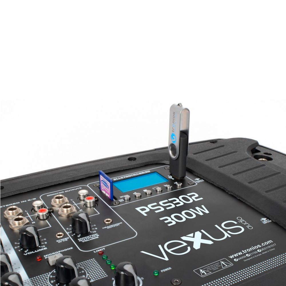 "Vexus PSS302-eu 170.118 Set Portatil 10"" SD/USB/MP3/BT con Tripode Vexus  PSS302 #4"