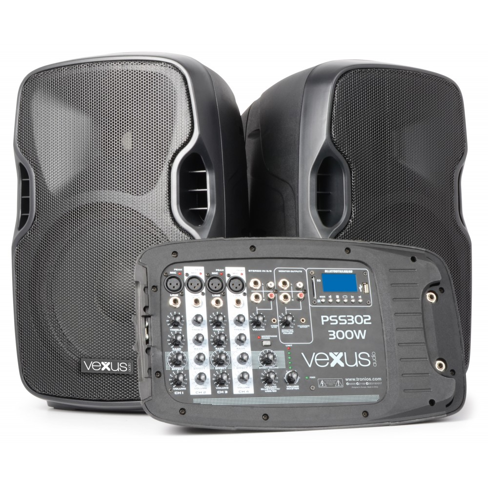 "Vexus PSS302-eu 170.118 Set Portatil 10"" SD/USB/MP3/BT con Tripode Vexus  PSS302 #2"