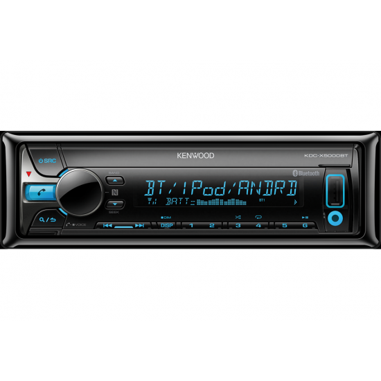 Receptor CD para coches (Bluetooth, MP3, WMA, AAC, WAV, FLAC playback) Kenwood KDC-X5000BT