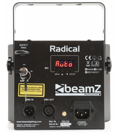 BeamZ Radical LED derby with laser 153.710 eu Beamz  Radical #2