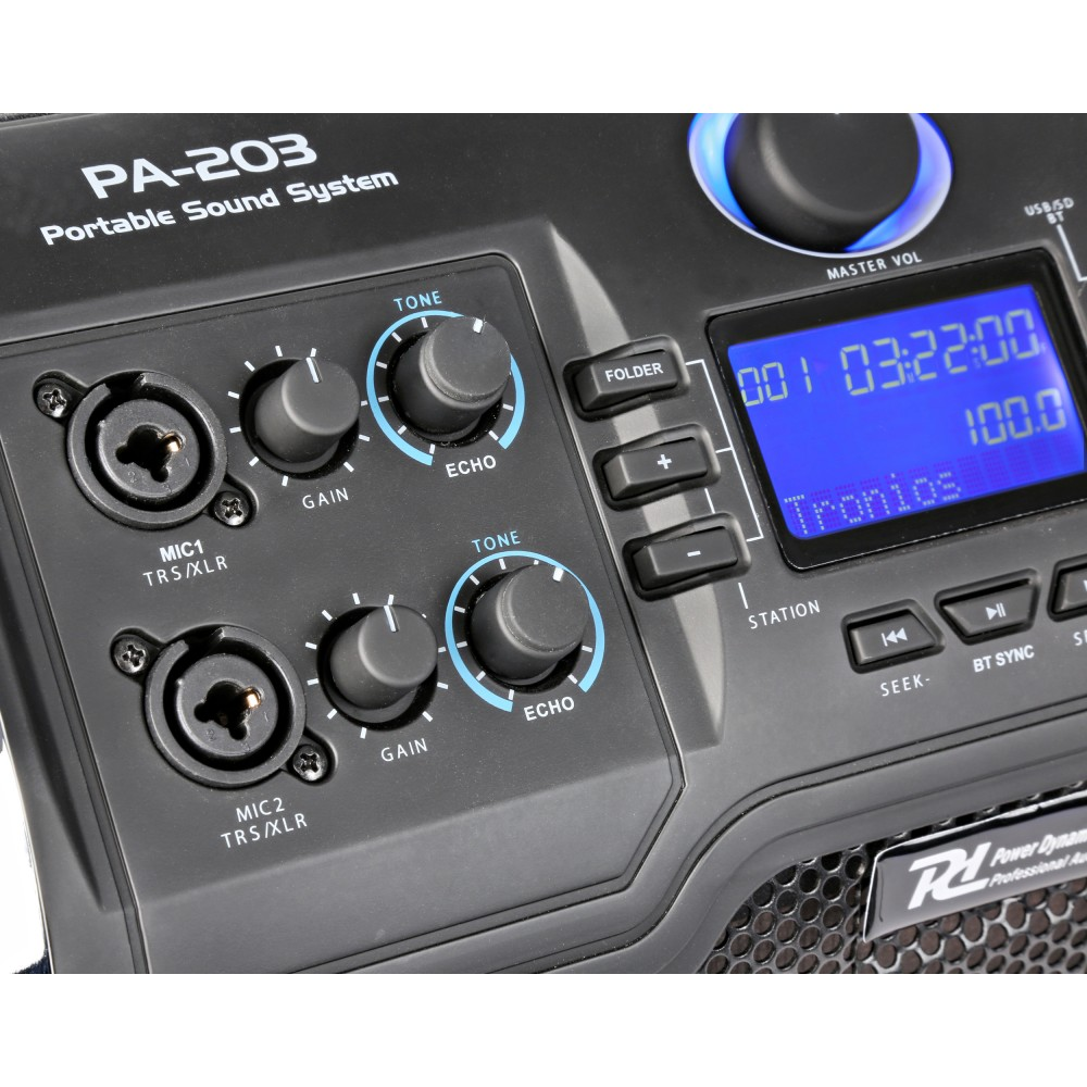 "Set Portatil 8"" SD/USB/MP3/BT 170.123 Power Dynamics PA-203 #2"