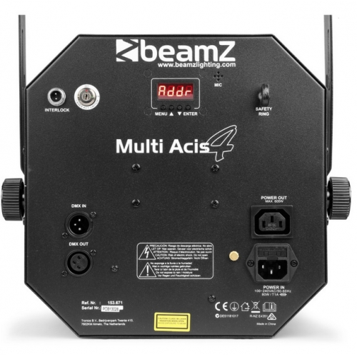 LED with laser and strobe 150.671 eu BeamZ MultiAcis IV #2