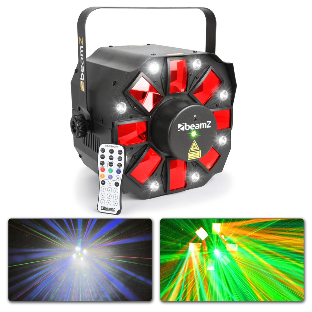Strobe Derby Party Sound activated Lighting 153.670 BeamZ  Multi Acis III LED #2