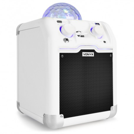 Bafle Party blanco con bola RGB LED  016012  Vonyx  SBS50W