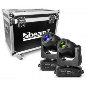 LED Moving Head 2 piezas en Flightcase BeamZ IGNITE180 Spot