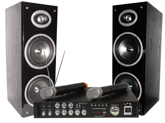 CONJUNTO KARAOKE CON DISPLAY DIGITAL, BLUETOOTH & DOS MICROS INALAMBRICOS LTC KARAOKE-STAR3-WM #2