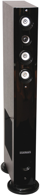 BAFLES HI-FI Negros DE 3 VIAS 120W MADISON MAD-92F-BK