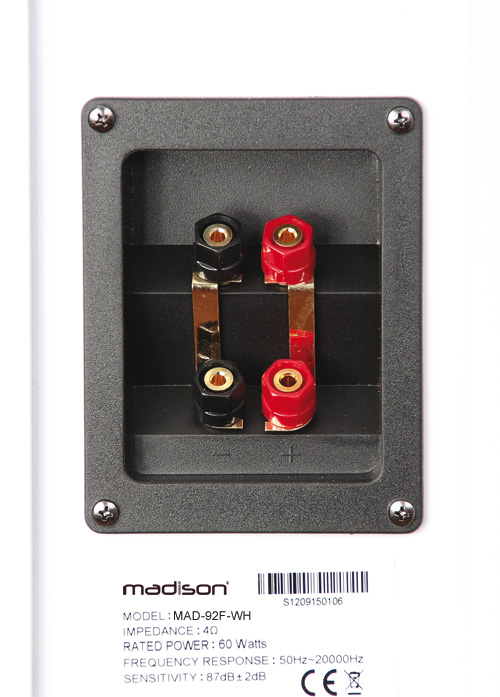 BAFLES HI-FI ROJO Y NEGRO DE 3 VIAS 120W MADISON MAD-92F-RE #4