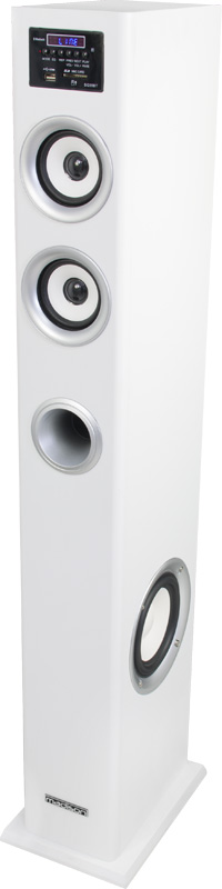 COLUMNA MULTIMEDIA AMPLIFICADA CON SINTONIZADOR FM,  USB/SD & BLUETOOTH 100W LTC LTC-CENTER100WH