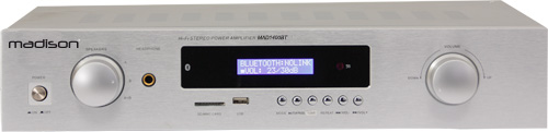 AMPLIFICATOR HI-FI STEREO 2 x 100W RMS MADISON MAD1400BT-WH