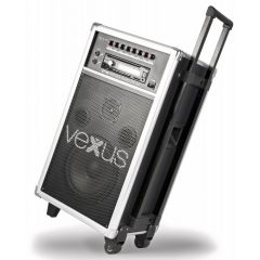 "170.007 eu Altavoz Portatil con bateria 8"" CD/SD/USB/MP3 Vexus ST110"