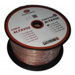 Cable Audio 2x1 mm 100% COBRE Acoustic Control CABLE 2x1 COBRE