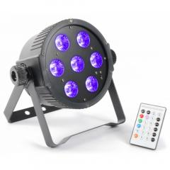 FlatPAR 7x 18W 6-in-1 LEDs Beamz 151.279