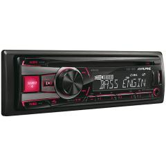 Radio CD Alpine, MP3, 50Wx4, USB, ilum. roja/verde Alpine CDE-190R