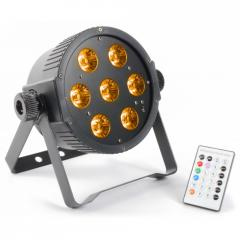 FlatPAR 7x 15W 5-in-1 LEDs Beamz 151.276