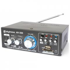 Amplificador Karaoke con FM/SD/USB/MP3 Skytronic AV-360