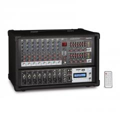Mezclador autoamplificado 8 canales USB/SD/MP3, radio FM, Bluetooth Fonestar SMA-208RUB