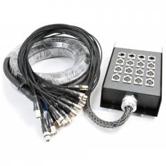 Stage Snake 12-in 4-out XLR 15 metres Power Dynamics 176.253