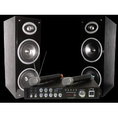 CONJUNTO KARAOKE CON DISPLAY DIGITAL, BLUETOOTH & DOS MICROS INALAMBRICOS LTC KARAOKE-STAR3-WM
