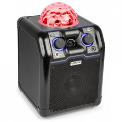 178.350 Bafle Party negro con bola RGB LED Vonyx SBS50B