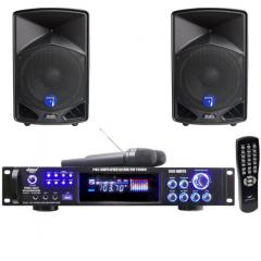 "PACK SONIDO KARAOKE 3000W + 2 ALTAVOCES 900W 15"" Audiovision PACK KARAOKE PYLE PWMA30003T"