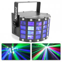 MARIPOSA LED BEAMZ CON ESTROBOSCOPIO LED 2-EN-1 LIGHTEF BeamZ LED Butterfly con strobo