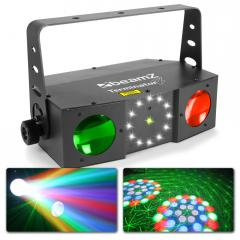 Terminator IV LED Doble Moon con laser y strobo BeamZ Terminator IV LED Doble Moon con