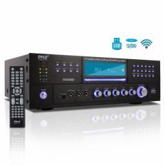 Preamplificador de cine en casa Bluetooth /video con reproductor de discos multimedia, radio  Pyle PD3000BA