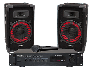 KIT DE SONORIZACI?N DISCO 2 x 75W CON USB & BLUETOOTH IBIZA SOUND DJ150