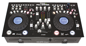 CONSOLA DE MEZCLAS PROFESIONAL CON DOBLE LECTOR CD-MP3& CONTROLADOR USB/SD IBIZA SOUND FULL-STATION