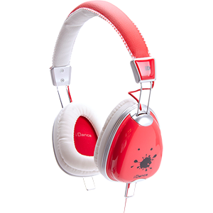 FASHION HEADPHONE FUNKY-200 RED/WHITE/GREY iDance FUNKY200
