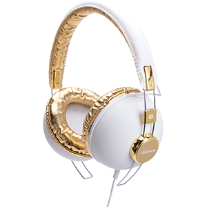 FASHION HEADPHONE HIPSTER-103 WHITE/GOLD iDance HIPSTER103