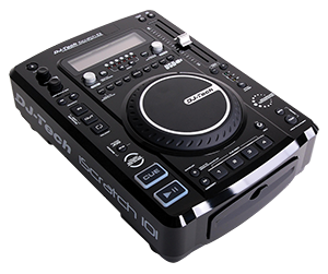 TOP LOAD CD MP3 PLAYER WITH DSP AND SAMPLER DJ-Tech ISCRATCH101-V2